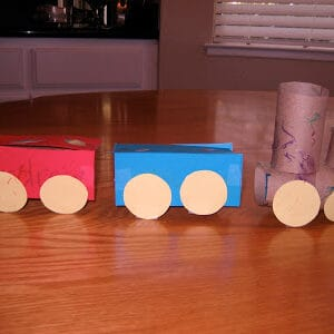 Toilet Roll Trains