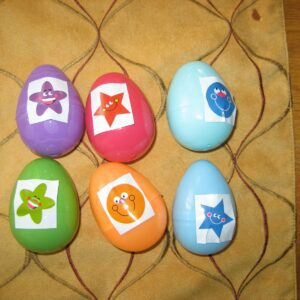 Reusing Easter Eggs: Color Sticker Matching
