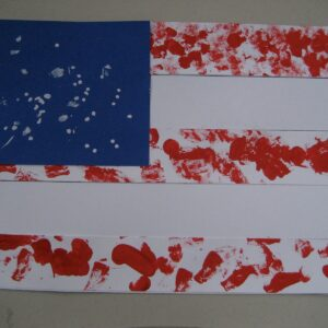 Fingerprint and Textured Flag