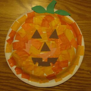 Great Pumpkin Paper Plate Masks