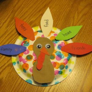Grateful Paper Plate Turkey