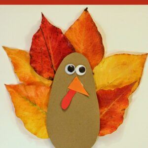 Leaf Turkey Card
