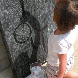 Water on Chalkboard