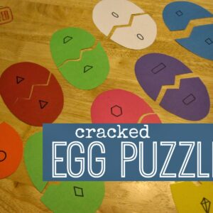 Cracked Egg Number & Shape Puzzles