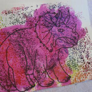 Dino Sandpaper Printing
