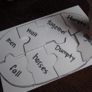 Humpty Dumpty Word Puzzle