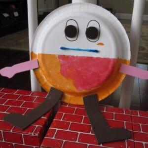 Paper Plate Humpty Dumpty Puppet