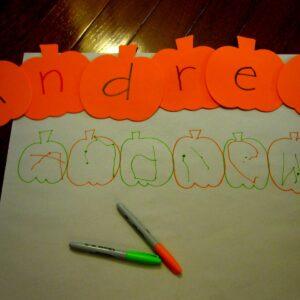 Name Pumpkin Spelling Hunt