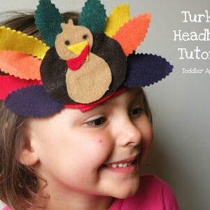 Turkey Day Headband Tutorial – No Sew