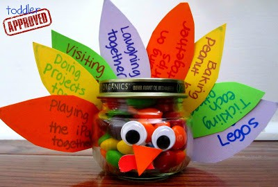 Gratitude Turkey Treat Jar Toddler Approved