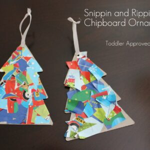 Rippin and Snippin Chipboard Ornament