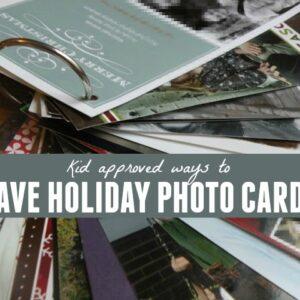 Saving Holiday Photo Cards