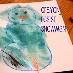 Crayon Resist Snowman