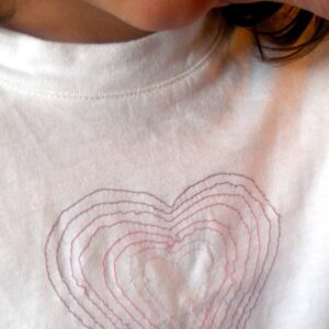 "Mom Project: ""Embroidered"" Heart Shirt"