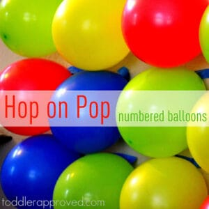 Hop on Pop- Numbered Balloons Game & Dr. Seuss Linky!