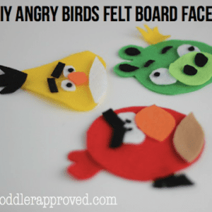 DIY Angry Birds Felt Board Faces {+ Free Pattern}- Part 1