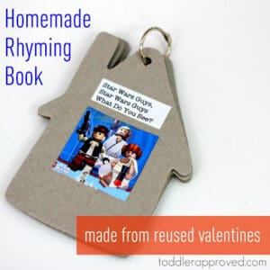 Homemade Rhyming Book- Made From Reused Valentines