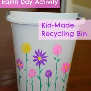 Earth Day Activity: Kid-Made Recycling Bin