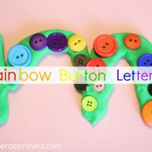 Rainbow Button Letters and the Friday Kid's Co-op Link up!