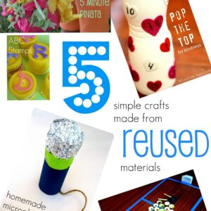 5 Simple Crafts Made from Reused Materials