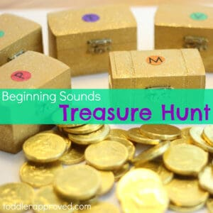 Beginning Sounds Treasure Hunt {and Children's Book Week Link Up}
