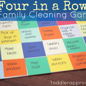 Four in a Row: A Family Cleaning Game