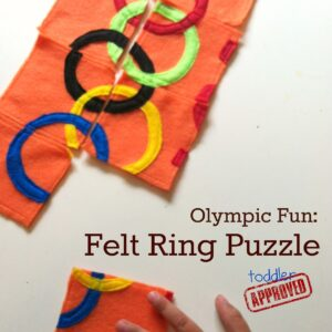 Olympic Fun: Felt Ring Puzzle