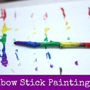 Rainbow Stick Painting #readforgood