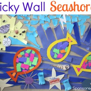 Sticky Wall Seashore {July BabbaBox Activities & Giveaway}- CLOSED