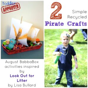 2 Simple Recycled Pirate Crafts {August BabbaBox Activities}