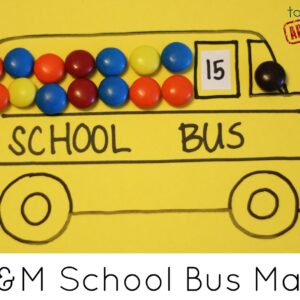 M&M School Bus Math – Back to School Basics