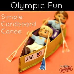 Olympic Fun: Simple Cardboard Canoe Craft