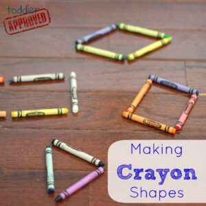 Making Crayon Shapes- Back to School Basics