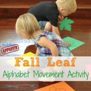 Fall Leaf Alphabet Movement Activity