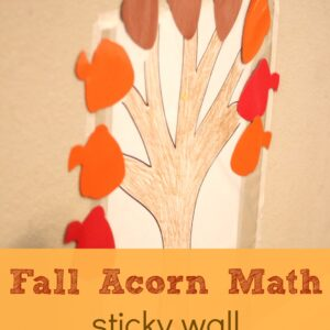 Fall Acorn Math Sticky Wall