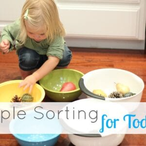 Simple Sorting for Toddlers {Kid's Co-op}
