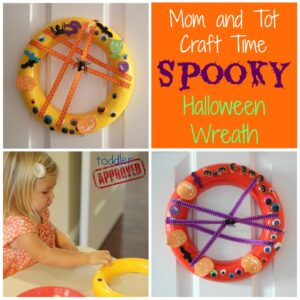 Mom and Tot Craft Time: Spooky Halloween Wreath