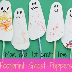 Mom and Tot Craft Time: Footprint Ghost Puppets