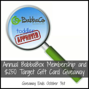 CLOSED- Annual BabbaBox Membership and Target Gift Card Giveaway