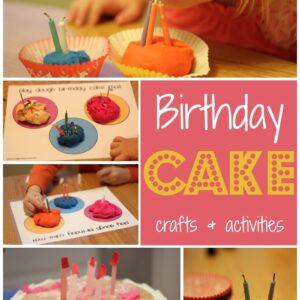 Birthday Cake Crafts & Activities {November BabbaBox}