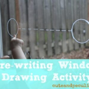 Pre-writing Window Drawing Activity {via Cute and Peculiar}