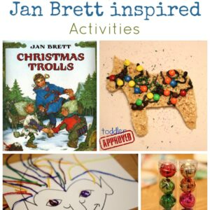 Simple Jan Brett Inspired Activities {Virtual Book Club Blog Hop}