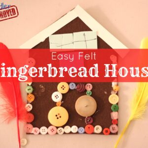 Christmas Crafts: Easy Felt Gingerbread House