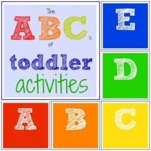 The ABC's of Toddler Activities {A through E}