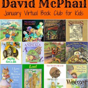 January Virtual Book Club for Kids- David McPhail