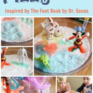 Fizzy Footprints {Dr. Seuss Virtual Book Club Blog Hop}