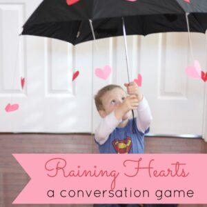 Raining Hearts: A Conversation Game