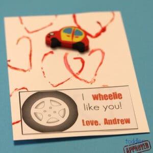 """I """"Wheelie"""" Like You {Simple Homemade Valentine}"""
