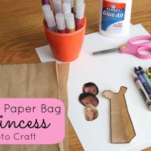Paper Bag Princess Photo Craft {Poppins Book Nook}