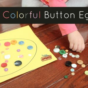 Mom and Tot Craft Time: Colorful Button Egg